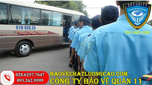 Công ty bảo vệ quận 11 Thanh Bình Phú Mỹ uy tín chuyên nghiệp 24/7