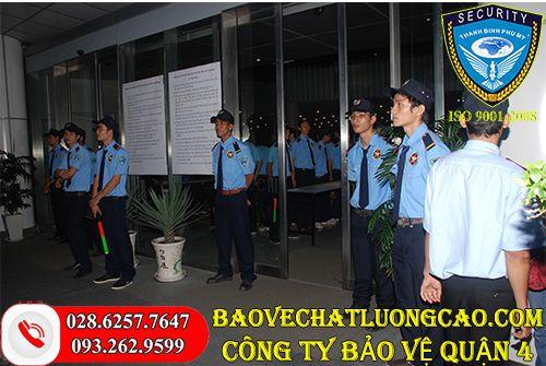 Công ty bảo vệ quận 4 Thanh Bình Phú Mỹ uy tín phục vụ 24/7