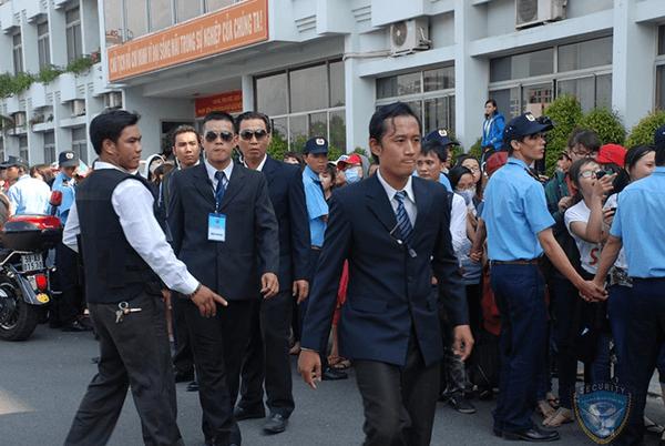 Lực lượng vệ sĩ bảo vệ sự kiện, event chuyên nghiệp
